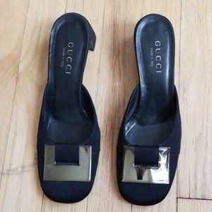 Vintage Gucci square toe heel